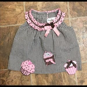 Cup Cake Dress Pink Black & White Checkered